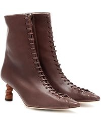 Rejina Pyo Simone 60mm Lace-up Ankle Boots - Brown