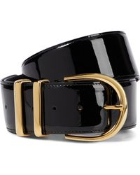 Khaite Cinturón Bella de charol - Negro