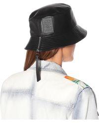 Loewe Hut aus Leder - Schwarz
