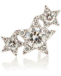 Maria Tash - Diamond Star Trinity Traditional 18kt White Gold Single Earring - Lyst