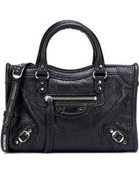 39e06e07b7 Balenciaga - Classic Nano City Leather Tote - Lyst