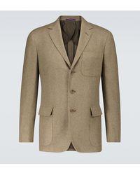 Ralph Lauren Purple Label Blazer Hadley de mezcla de lana - Verde