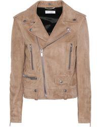 Saint Laurent   Suede Moto Jacket   Lyst