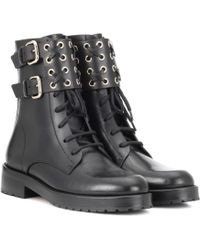 RED Valentino - Embellished Leather Ankle Boots - Lyst
