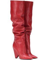 Saint Laurent - Niki 105 Leather Boots - Lyst