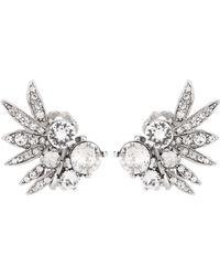 Oscar de la Renta | Crystal-embellished Clip-on Earrings | Lyst