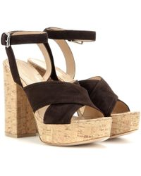 Gianvito Rossi - Mytheresa. Com Exclusive Suzie Suede Platform Sandals - Lyst