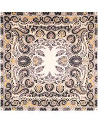Etro Pañuelo de seda con print paisley - Neutro