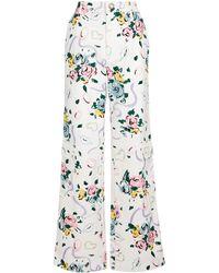 Alessandra Rich Bedruckte Hose aus Baumwolle - Weiß