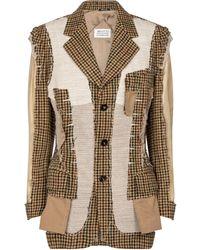 Maison Margiela Deconstructed Wool Blazer - Natural