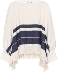 Chloé - Fringed Cotton And Wool Sweater - Lyst