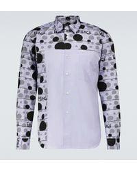 Comme des Garçons Bedrucktes Hemd aus Baumwolle - Lila
