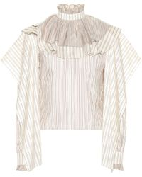 JW Anderson - Striped Silk Blouse - Lyst