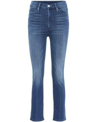 Mother High-Rise Jeans The Rascal - Blau