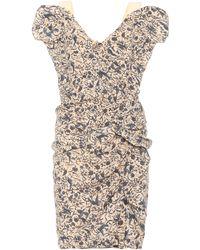 Étoile Isabel Marant Vestido de lino estampado Topaz - Neutro