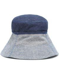 Lola Hats Chapeau bob en jean - Bleu