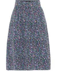 A.P.C. Ravenna Crêpe De Chine Skirt - Blue