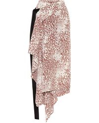 Petar Petrov Reva Printed Silk Midi Wrap Skirt - Multicolor