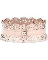 Alaïa Leather Corset Belt - Pink