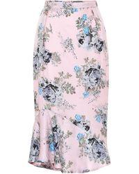 Preen By Thornton Bregazzi Eleau Floral Silk-blend Midi Skirt - Pink