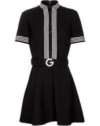 Gucci Wool Crêpe Minidress - Black