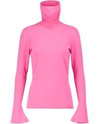Balenciaga Jersey Mask de cuello alto - Rosa