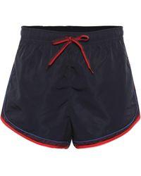 The Upside Retro Derby Shorts - Blue