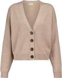 Brunello Cucinelli Wool, Cashmere And Silk Cardigan - Brown