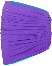 The Attico Minifalda drapeada reversible - Morado