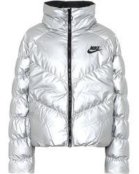 Nike Chaqueta de plumas - Metálico