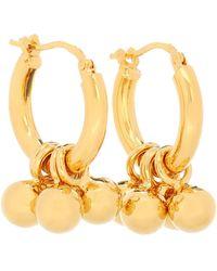 Jil Sander Embellished Hoop Earrings - Metallic