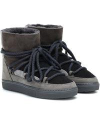 Inuikii Sneaker Suede Boots - Gray