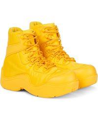 Bottega Veneta Ankle Boots Puddle Bomber - Gelb