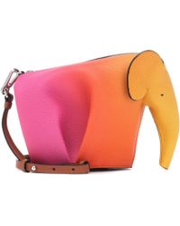 Loewe - Elephant Mini Leather Shoulder Bag - Lyst