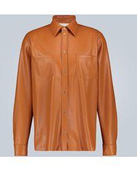 Nanushka Faux-leather Shirt - Multicolour