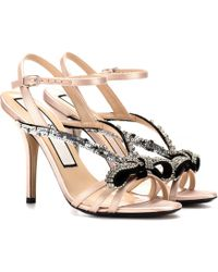 N°21 - Sequinned Satin Sandals - Lyst