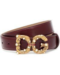 Dolce & Gabbana Cintura DG Amore in pelle - Multicolore