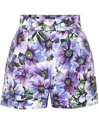 Dolce & Gabbana Shorts aus Baumwolle und Seide - Lila