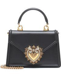 Dolce & Gabbana Bolso Devotion Small de piel - Negro