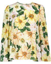 Dolce & Gabbana Bluse aus einem Seidengemisch - Gelb