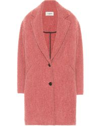 Étoile Isabel Marant Dante Bouclé Coat - Pink