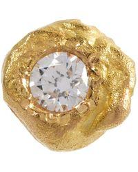 Elhanati Boucle d'oreille Solitaire en or 18 ct et diamant - Métallisé