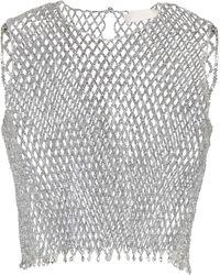 Max Mara Top de novia Orde1 adornado - Metálico
