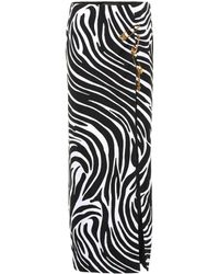 Versace Safety Pin Zebra Skirt - Black