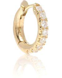 Spinelli Kilcollin Mini Micro Hoop Pavé 18kt Gold And Diamond Earring - Metallic