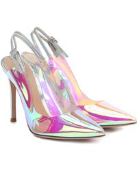 Gianvito Rossi Kyle 105 Pvc Slingback Court Shoes - Pink