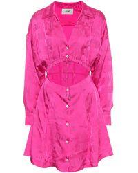 Kirin Minikleid aus Satin - Pink