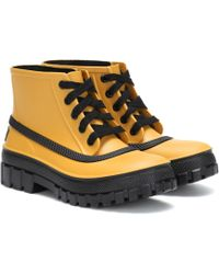 Givenchy Glaston Lace-up Rubber Rain Boots - Natural