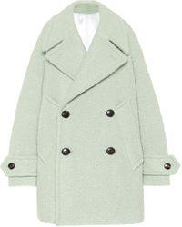 AMI Wool-blend Coat - Green