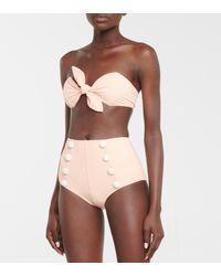 Lisa Marie Fernandez High-Rise-Bikini Poppy - Pink